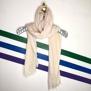 NEW Free people rainbow striped lightweight scarf